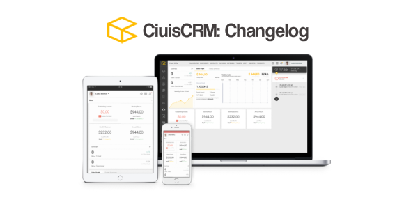 CiuisCRM Changelog 1.0 to 1.6